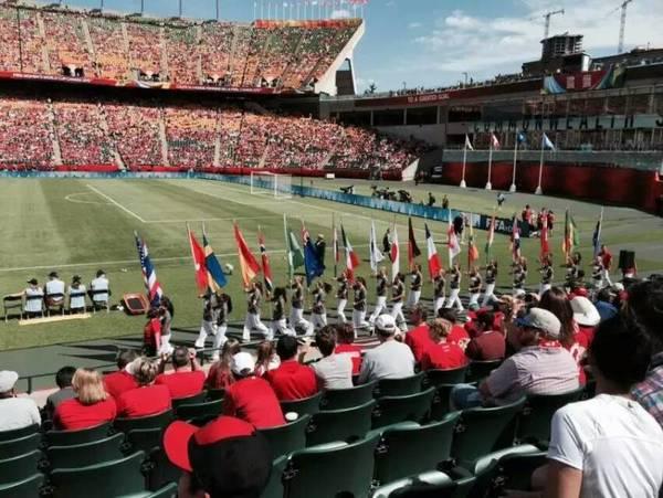 女子世界杯中加揭幕战 侨界前往打气